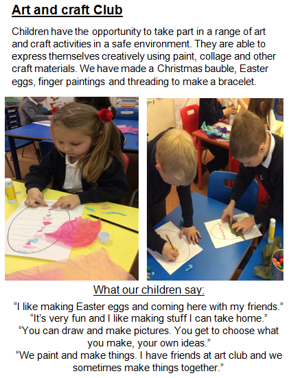 Art and Craft Club - Early Years