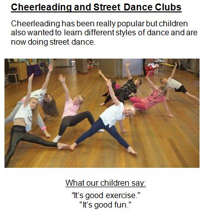 Cheerleading and Street dance Club