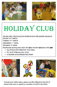 Holiday club Easter opening times